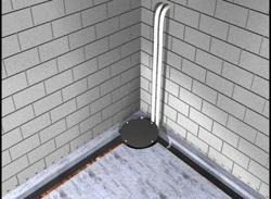 Our Dual Discharge SystemSM Provides A Second Pipe For A Backup Pump System  To Ensure A Dry Basement Even