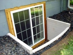 Step 5 Drain Tile Incorporation. Egress windows ... & Installing Basement Windows | Egress Window Installation in ...