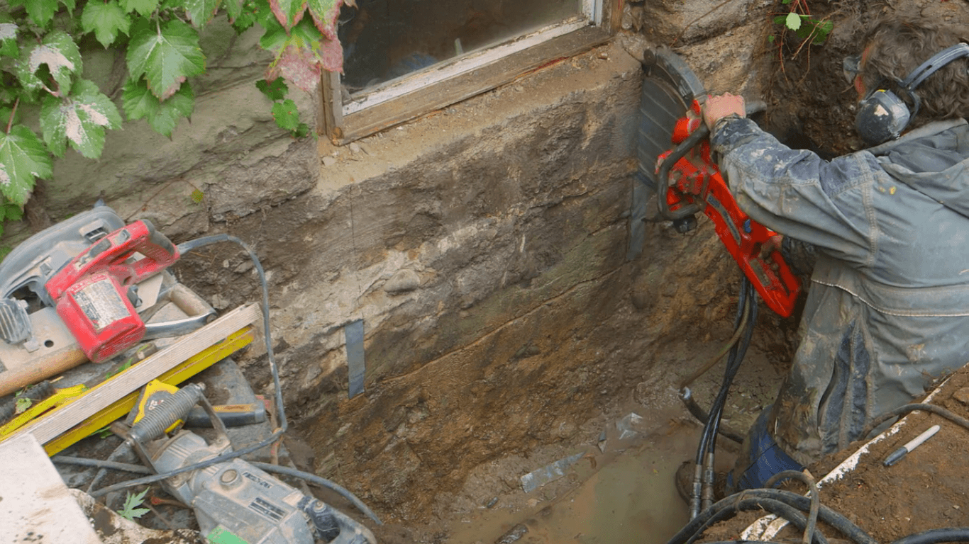 how to cut through concrete