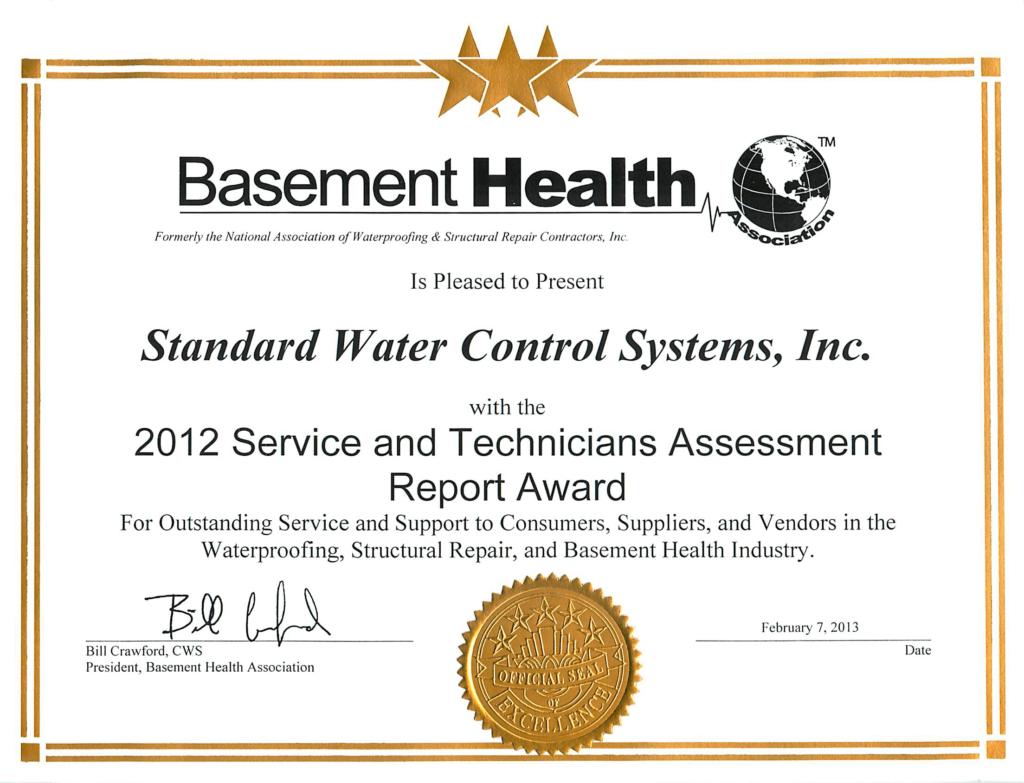 Basement-Health-Association-Award-2012