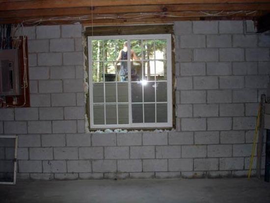 Installing Basement Windows