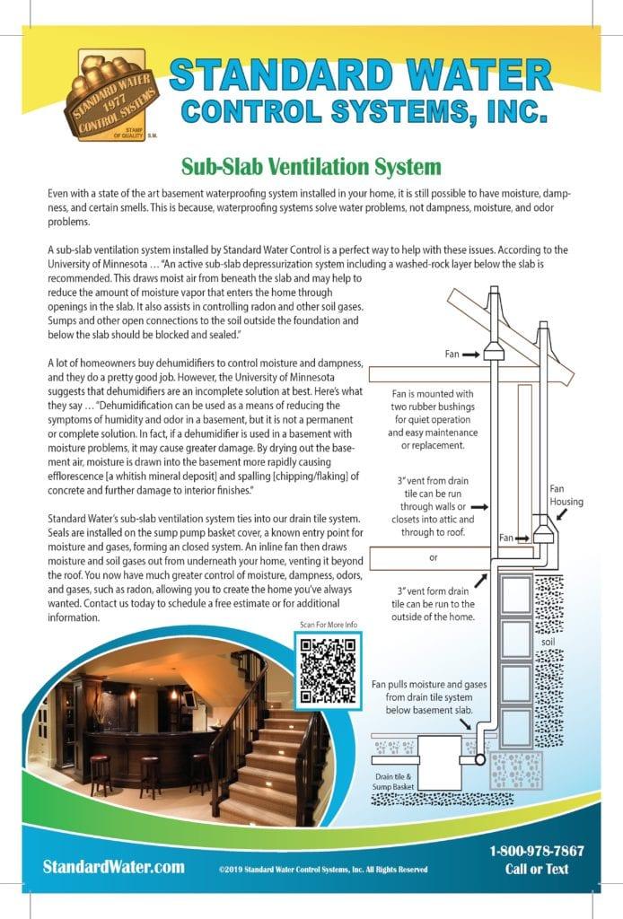 Standard Water Control Systems, Inc  | Sub Slab Ventilation